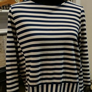 Madewell large striped 3/4 sleeve top. Large